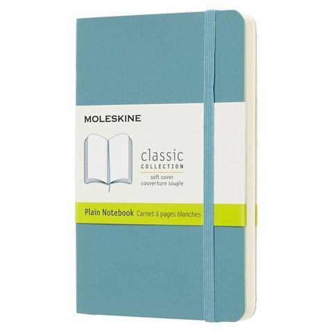 Блокнот Moleskine CLASSIC SOFT QP613B35 Pocket 90x140мм 192стр. нелинованный мягкая обложка голубой
