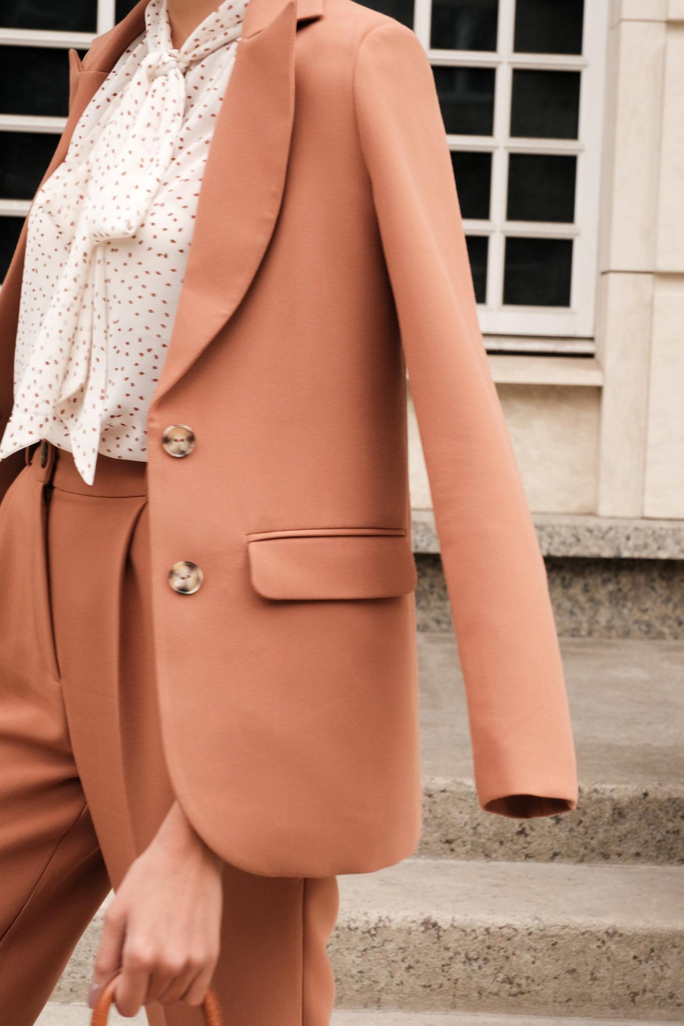 Пиджак прямой однобортный (кэмэл)