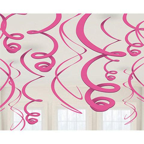 Спирали ярко-розовые, 55 см, 12 штук