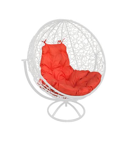 Кресло вращающееся Milagro white/orange