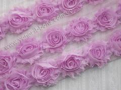 Шифоновые шебби-розы тюльпан  диаметр 6 см