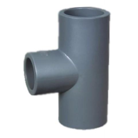 Тройник редукционный 90 ПВХ 1,0 МПа диаметр 75*50мм PoolKing