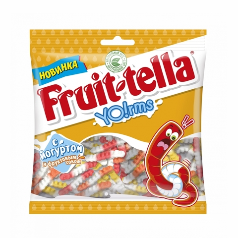 Мармелад жев FRUIT-TELLA Yolrms 138 г Perfetti Van Melle РОССИЯ