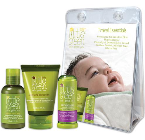 Little Green Baby: Набор «Первый уход малыша» (Baby Essentials Set), 60мл+ 60мл+ 13г
