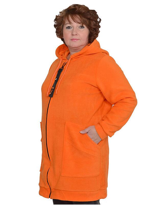 Толстовка из оранжевого флиса Эрика