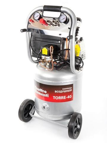 Компрессор поршневой масляный QUATTRO ELEMENTI TORRE-40 (300 л/мин, 40л, 2,5 л.с, 8 бар, 3 (770-261)