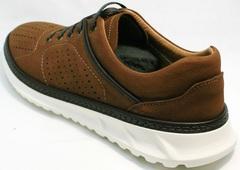 Летние дышащие кроссовки мужские Vitto Men Shoes 1830 Brown White