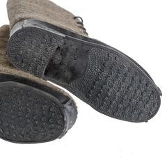 Ботинки валяные на противоскользящей резиновой подошве, черные