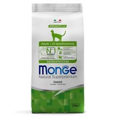 Monge Cat Monoprotein Adult Rabbit Сухой корм для взрослых кошек с кроликом