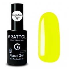 Grattol Rubber Base Camouflage Neon № 02, 9 мл