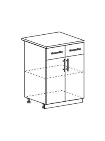 Шкаф нижний с 2 ящиками и створками
