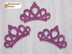 Заготовка корона маленькая розово-сиреневая № 1