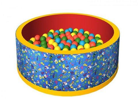 Сухой бассейн с шариками «Веселая полянка» ДМФ-МК-02.2.51.02 синий