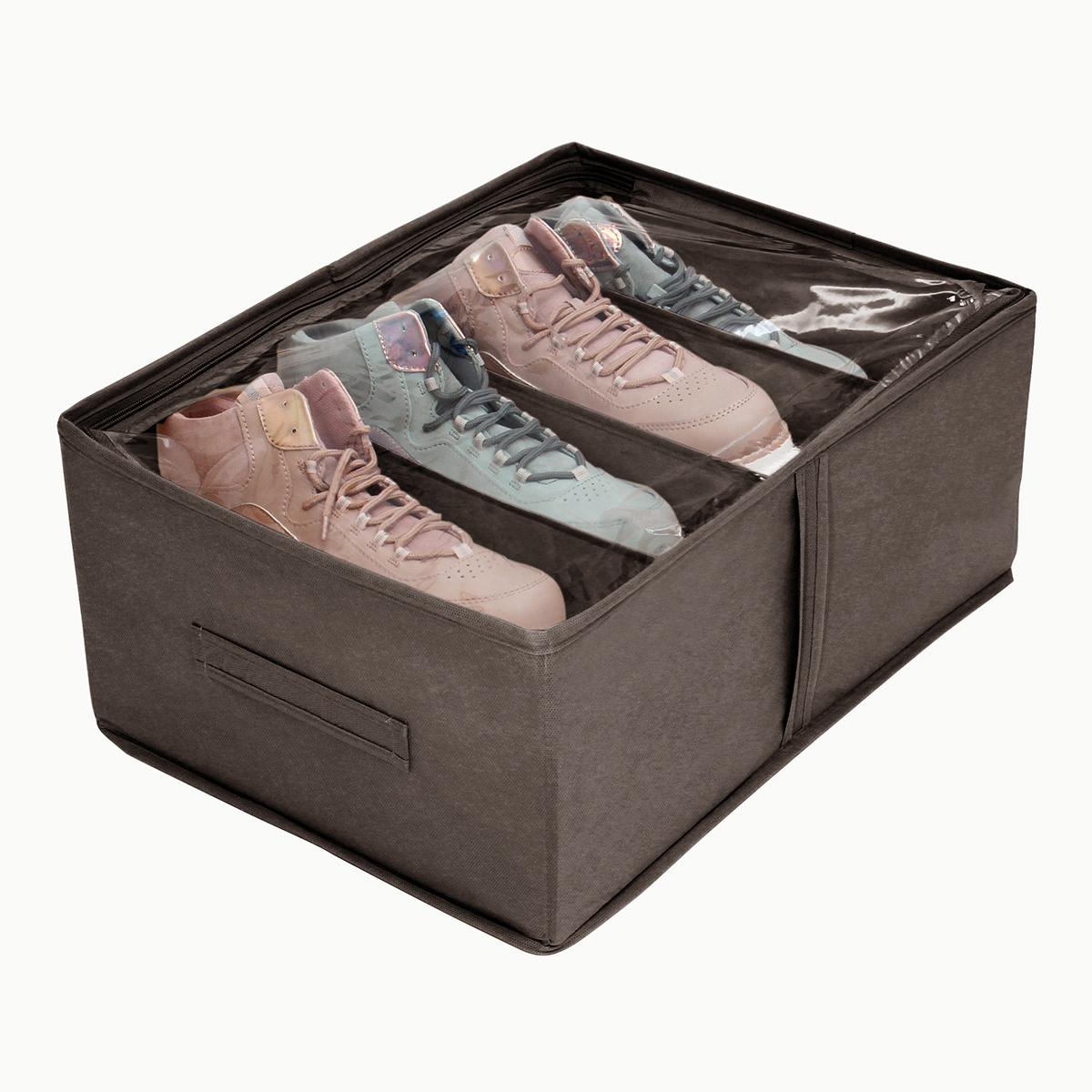 Кофр для обуви 34х48х20 см, 4 ячейки, Прага