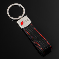Брелок Ауди РС (Audi  RS) для ключей автомобиля с логотипом, красный
