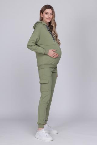 Спортивный костюм для беременных и кормящих 12526 хаки
