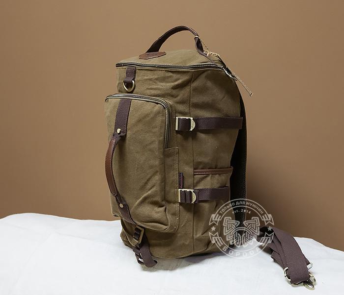 BAG368-2 Стильная и вместительная сумка рюкзак с ремнем на плечо фото 02