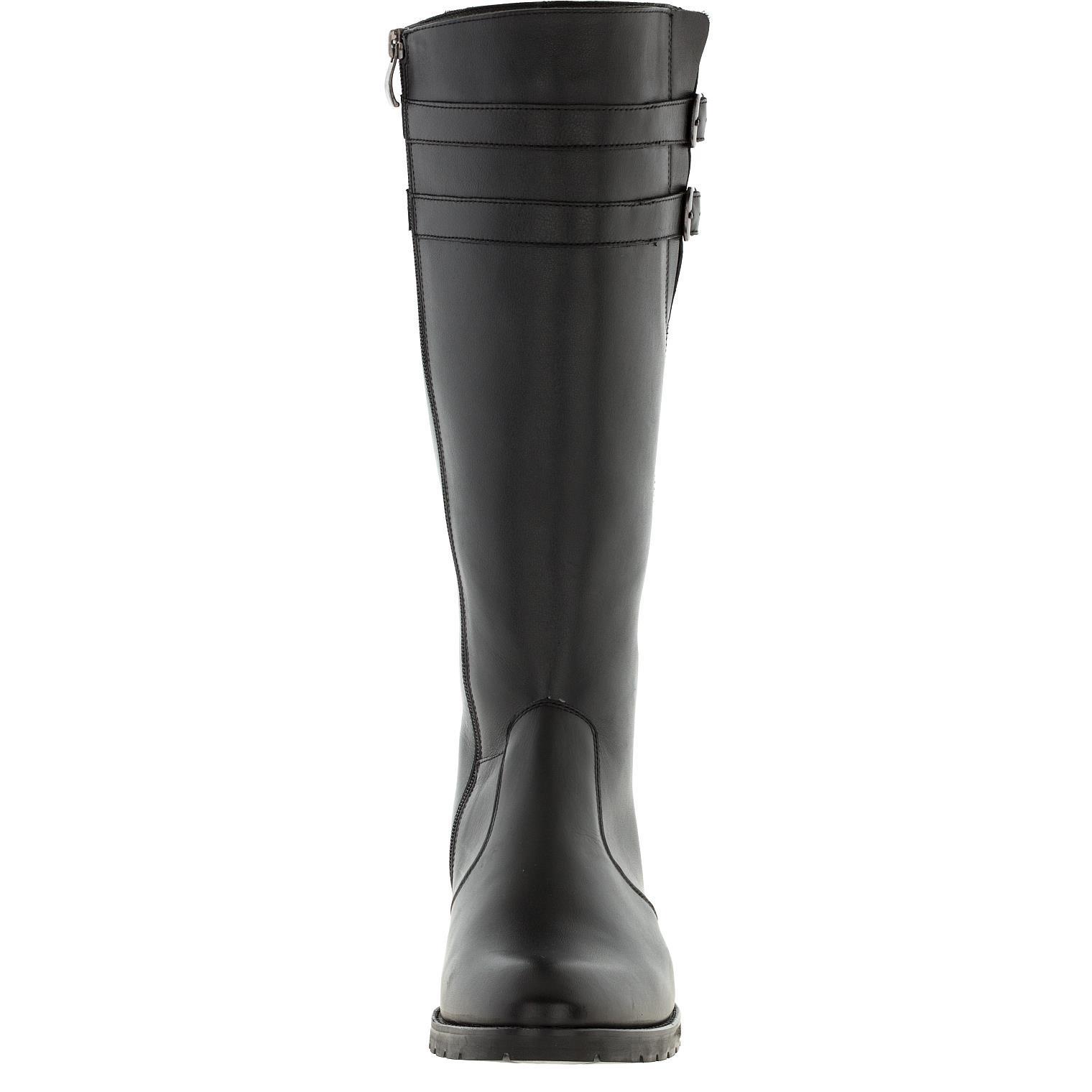 635507 Сапоги женские черные кожа больших размеров марки Делфино