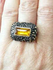 Дельво-черный(кольцо  из серебра)