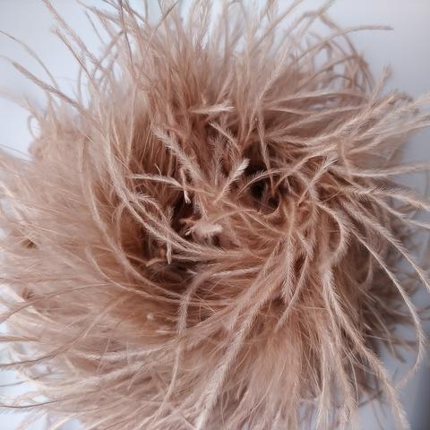 Боа  из перьев страуса и пуха 25 гр. старая роза