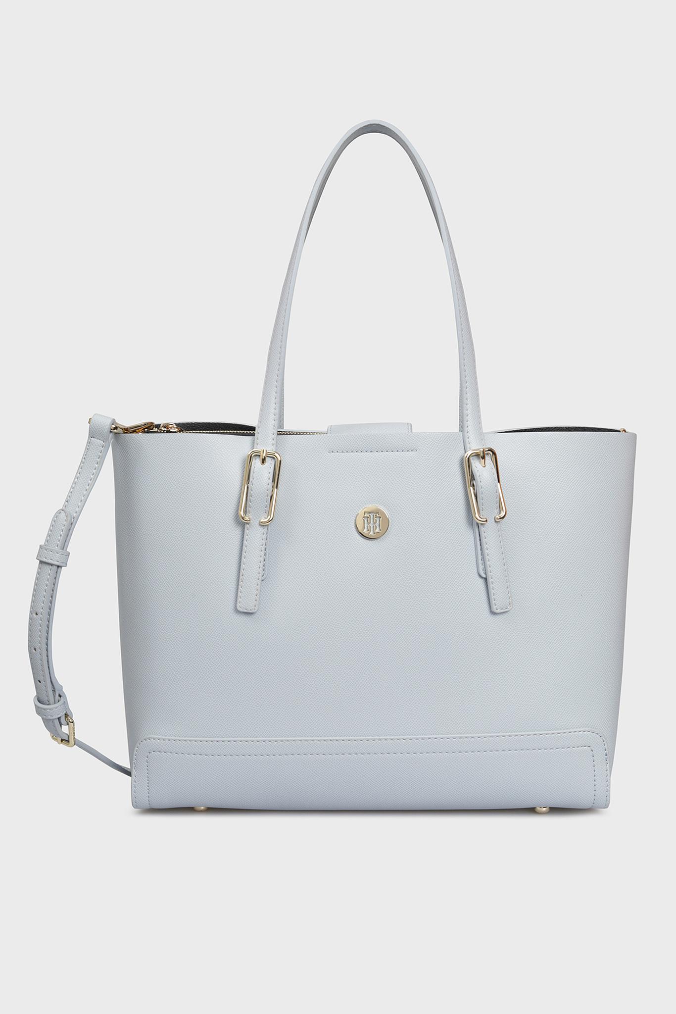 Женская голубая сумка на плечо HONEY MED Tommy Hilfiger