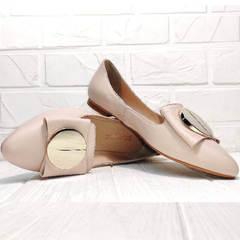 Балетки туфли женские Wollen G192-878-322 Light Pink.