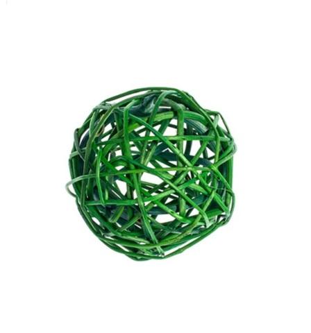 Плетеные шары из ротанга (набор:6 шт., d8см, цвет: зеленый)