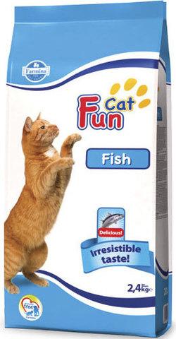 20 кг. FARMINA FUN CAT Сухой корм для взрослых кошек с курицей и рыбой Fish