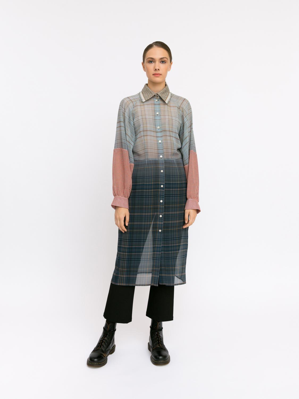 Рубашка с градиентным принтом