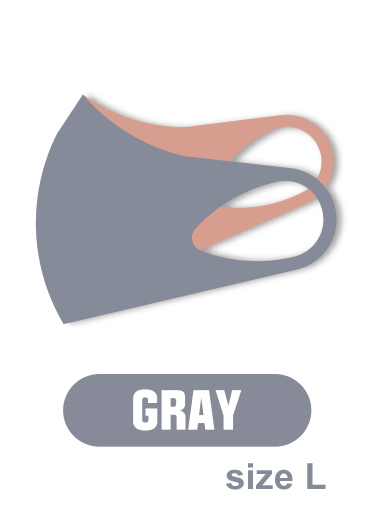 ASKIN MASK GRAY, маска-респиратор размер L- 1 шт в упаковке (серая)