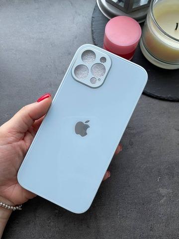 Чехол iPhone 12 Pro Max /6,7''/ Glass Pastel Full Camera /mist blue/