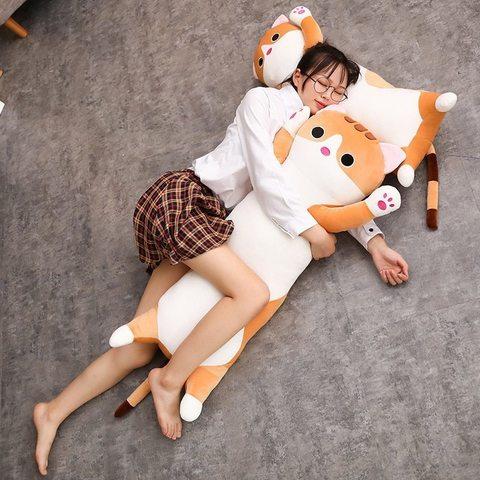 Подушка игрушка кот рыжий 90 см