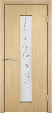 Дверь Верда С-21, стекло Сатинато (Амелия), цвет беленый дуб, остекленная