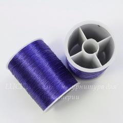 Нить металлизированная для вышивки бисером, 0,1 мм, цвет - сапфир, примерно 55 м