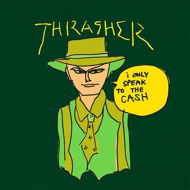 Футболка THRASHER Gonz Cash (Forest Green)