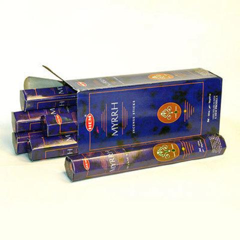 Благовония HEM Hexa MYRRH  аромапалочки Мирра , 20 г (20 ароматических палочек)