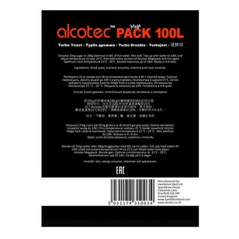 Спиртовые дрожжи Alcotec Mega pack 100l, 360 г