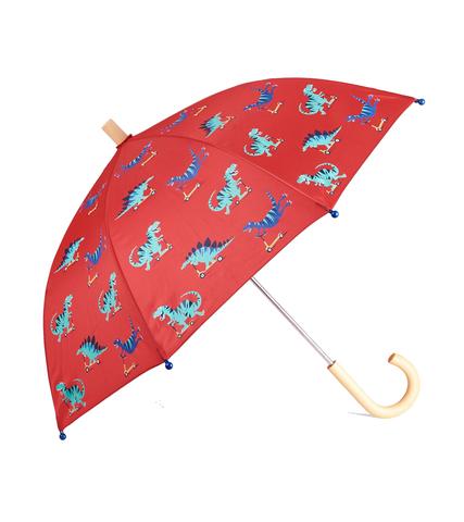 Зонт Hatley с динозаврами красный