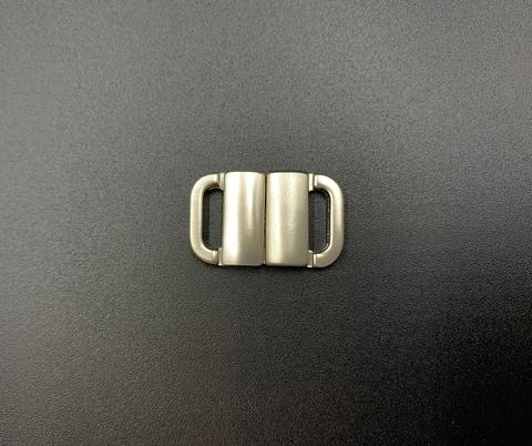 Застежка металл 10 мм серебро матовая