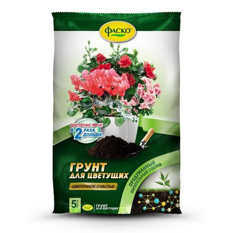 Грунт Фаско Цветочное счастье для цветущих 5 л