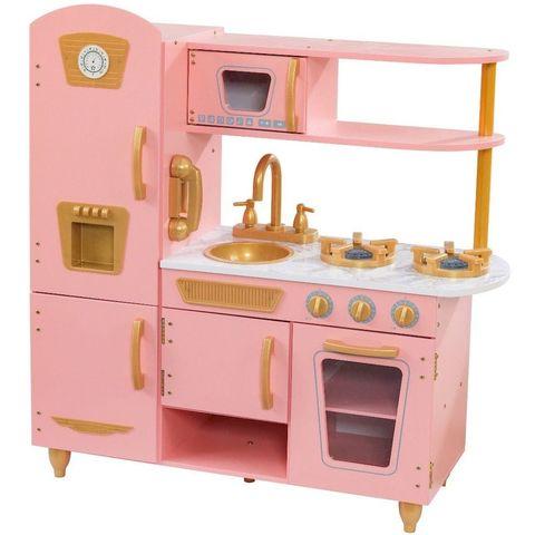 KidKraft Винтаж Vintage (розовая с золотом) - детская кухня 53443_KE