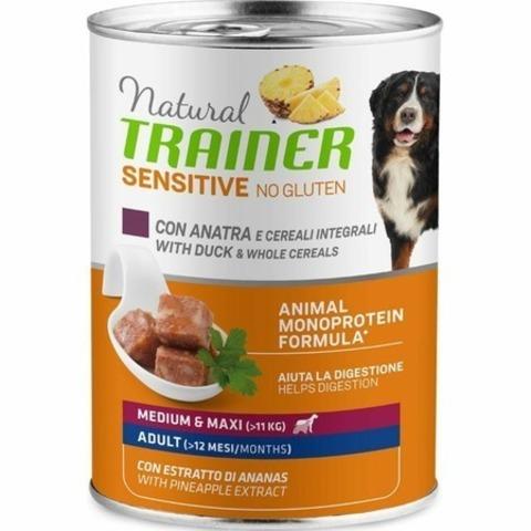 Trainer Natural Sensitive No Gluten влажный корм для собак средних и крупных пород с уткой - 400 г