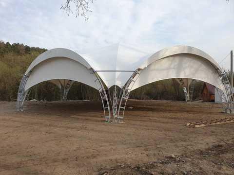 Арочный шатер гексагональ 20х17