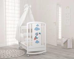 Детская кровать Жаклин (мишка на ракете) Гандылян
