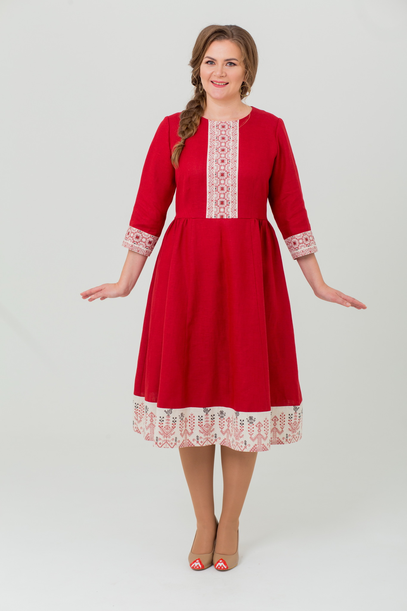 Русское народное платье Вишнёвый сад
