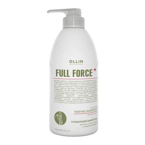OLLIN PROFESSIONAL FULL FORCE Очищающий шампунь для волос и кожи головы с экстрактом бамбука 750 мл