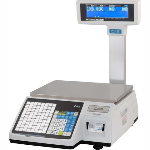 Торговые весы с печатью этикеток CAS CL3000-15P, 15кг, 2/5гр, 376x246, ГОСТ OIML R 76-1-2011, со стойкой