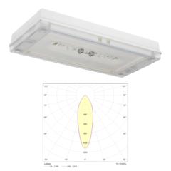 Аварийный светодиодный светильник IP65 для высоких потолков SOLID Zone MIDBAY Teknoware