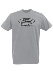 Футболка с принтом Ford, Mondeo (Форд, Мондео) серая 001