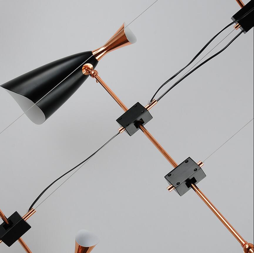 Подвесной светильник копия Duke by Delightfull (6 плафонов, черный)
